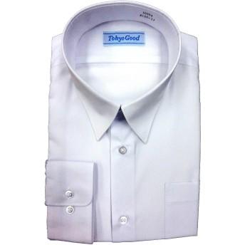 スクール Yシャツ 男子 学生 ワイシャツ A体 B体 長袖 半袖 形態安定 抗菌 防臭 (180B, 長袖)