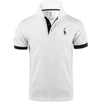 ポロシャツ メンズ ゴルフウェア 半袖 無地 スポーツ 綿 作業着 tシャツGlestore(グラストア)