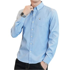 yシャツ メンズ オックスフォード シャツ メンズ 半袖 七分袖 無地 春 夏 秋 SY-17011 (XL, 7010-QL)
