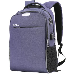 AISFA リュック 防水加工 USB充電ポート付き