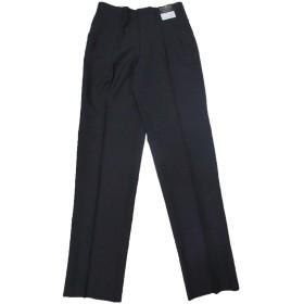 スラックス ツータック 洗える ブラック (LACONIQUE) メンズ 紳士 (100)