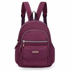 バックパック レディース 小さい リュックサック 超軽量 ガールズ ナイロン ショルダーバッグ Purple
