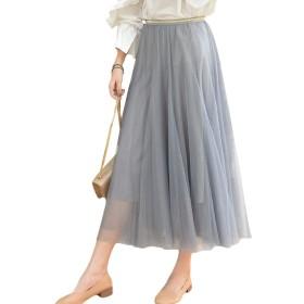 (アブロンダ)ABRONDA チュール レース スカート ボリューム ウェスト ゴム 少女 ふんわり 抜け感 ワンサイズ レディース