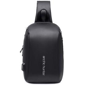 FANDARE ボディバッグ メンズ usbポート付き 超防水 保温 手提げバッグ 2way ワンショルダーバッグ 盗難防止 肩掛けバッグ 斜めがけバッグ 多機能 人気 通勤 通学 旅行 PUレザー ブラックA