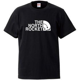 (ザ・ノース・ロケット)THE NORTH ROCKET 5.6oz(オンス)半袖Tシャツ XXL ブラック ロゴ大