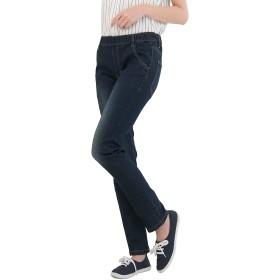 [クロスマーベリー] オール ウエストゴム デニム スキニー パンツ ストレッチ 楽ちん 綿 ヴィンテージ ジーンズ Gパン きれいめ おしゃれ 細見せ 大人 カジュアル ファッション レディース 女性 ガールズ 大きいサイズ (W45 ネイビー M)