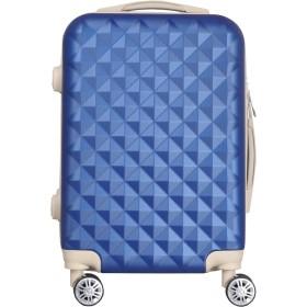 012 キルト可愛いスーツケース キャリーケース キャリーバッグ【 軽量 TSA搭載Sサイズ 1~3日 (ネイビー, s)