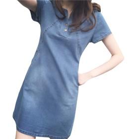 チュニック ワンピース ドレス メイド 春夏 女の子 デスム ひざ上 着痩せ 日常着 通勤 旅行