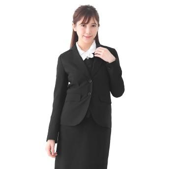 (アッドルージュ) AddRouge 事務服 制服 レディース ジャケット 洗える オフィス 通勤 スーツ 【x1565526】 19号ABR 【A/袖口1つ釦】ブラック