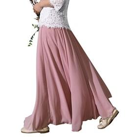 (アンドジェイ) ANDJ 3層シフォンフレアマキシスカート bt10x03690 FREE ピンク系その他