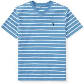 POLO RALPH LAUREN ポロ ラルフローレン Tシャツ ストライプ Vネック Boys Striped Jersey V-Neck T-Shirt 並行輸入品(USボーイズサイズ)(425377) (BOY'S/XL(日本サイズL相当), SOFT ROYAL HEATHER) [並行輸入品]