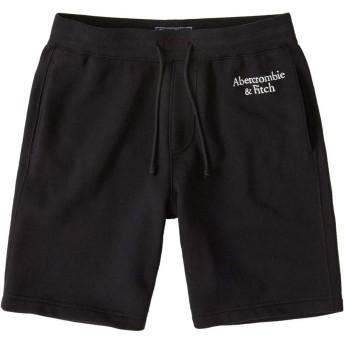 [Abercrombie & Fitch(アバクロンビーアンドフィッチ)] アバクロ メンズ アスレチック ショーツ ショートパンツ ロゴ 刺繍 ブラック Mサイズ [並行輸入品]