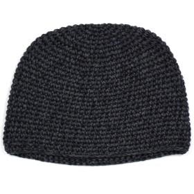 [クリサンドラ] イスラムワッチ 男女兼用 ニット帽 カジュアル 綿 イスラム ワッチ フリーサイズ コットン ブランド 帽子 ca401 ブラック メランジ 01