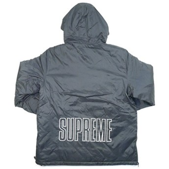 SUPREME シュプリーム ×Champion 18SS Pullover Parka Jacket ジャケット 黒 L 並行輸入品