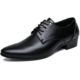 [Z.L.F] シューズ ビジネス メンズ 柔軟 革靴 紳士靴 消臭 耐摩耗性 ソフト 快適 滑り止め (Color : ブラック, サイズ : 26.5 CM)