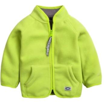 [ディーハウ]アウター ふんわり コート ベビー服 男の子 キッズ ジャケット もこもこ 裹起毛 アウター ウインドブレーカー アウトドア子供服 防寒 秋冬 ボア ファッション グリーン140