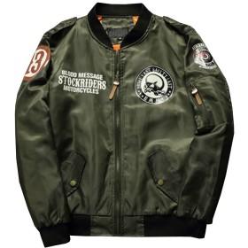 Heaven Days(ヘブンデイズ) MA-1 ma1 ミリタリージャケット ジャンパー ブルゾン 中綿入り 厚手 ライダーズプリント メンズ 1801N0442