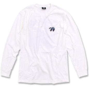 [ステューシー] STUSSY Tシャツ 長袖 メンズ SS Cube サイズM ホワイト [並行輸入品]