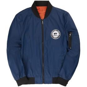 Superora(スーパーオラ)メンズ ジャケット 春秋 薄手 中綿なし トレンド カップル 防風 撥水 ブルゾン 防寒 肌触り 着心地 着回し スマート 修身 シンプル カッコイイ おしゃれ