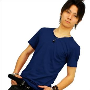 スワンユニオン swanunion f52 XL Vネック Tシャツ メンズ 半袖 ブルー 青 細 タイト