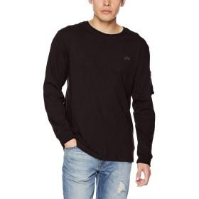[アルファ インダストリーズ] 【公式】長袖 BLOOD CHITシガレットポケットTシャツ TC1318 メンズ BLACK 日本 L (日本サイズL相当)