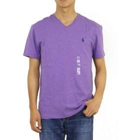 (ポロ ラルフローレン) POLO Ralph Lauren メンズ 無地 Vネック Tシャツ ワンポイント 0107213-M-PURPLEHTR [並行輸入品]