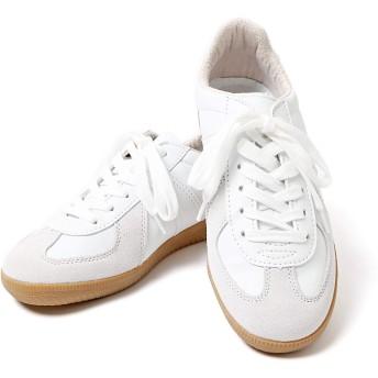 [エムエイチエー] M.H.A.style ジャーマントレーナー ホワイト ドイツ軍レプリカ 白 靴 スニーカー 10039 ホワイト