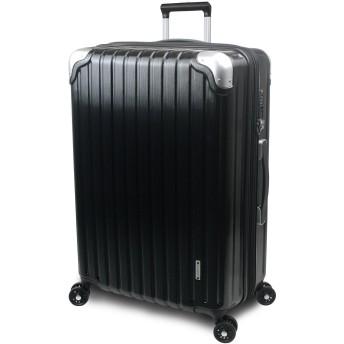 【SUCCESS サクセス】 スーツケース 3サイズ 【 大型 76cm / ジャスト型 70cm / 中型 65cm 】 超軽量 TSAロック搭載 【 プロデンス コーナーパットモデル】 (中型 Mサイズ 65cm, ブラックヘアライン)