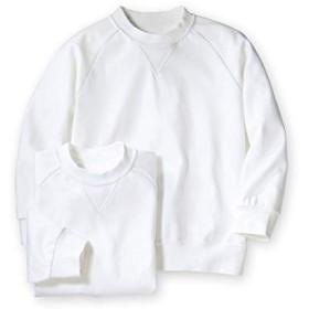 [nissen(ニッセン)] 丸首 長袖 体操服 シャツ 2枚組 キッズ ジュニア 白 140 セット組