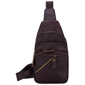 ショルダー ウエストポーチ メンズ 本革 スマホ 小物入れ バッグ カラビナ付き 斜め掛け ポーチ ファッション 大容量 ウエストバッグ ボディバッグ (brown2)