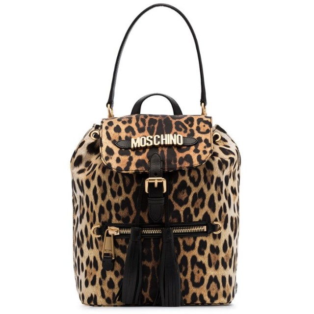 Moschino レオパード バックパック - 1555 Leopard