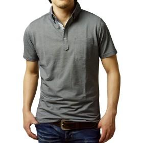 (アルージェ) ARUGE ポロシャツ メンズ 半袖 ボタンダウン おしゃれ クールビズ ビジカジ 大きいサイズ XL 2L / A8L / LL 76チャコール