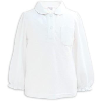 ASHBERRY (アッシュベリー) 丸えり長袖ポロシャツ/白/鹿の子/女の子/子供/スクール/キッズ/小学生/制服(10500) 150cm