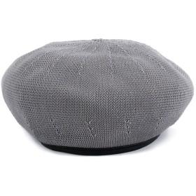 (ガーベラ) Gerbera レディース ベレー帽 夏 シンプル 定番 無地 帽子 軽い かわいい グレー