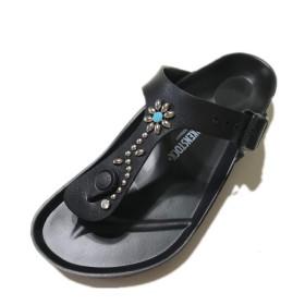 [株式会社マックストラスト] ビルケンシュトック カスタム BIRKENSTOCK custom サンダル ギゼ EVA 普通幅タイプ GIZEH メンズ レディース (43(約28cm), 黒)