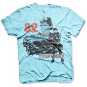 Officially Licensed Merchandise Knight Rider 1982 Mens T-Shirt (Skyblue), Medium