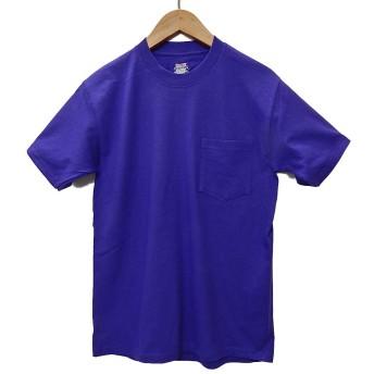 (ヘインズ) HANES BEEFY TEE POCKET ヘインズ メンズ ポケットTシャツ 5190p ビーフィー [並行輸入品] (M, パープル)