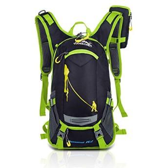 サイクルバッグ リュックサック サイクリングバッグ 登山用リュックサック 軽量 防水 自転車旅行用 アウトドアバッグ 容量リュック (グリーン)