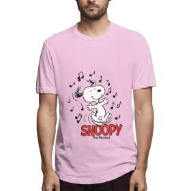 HAH Tシャツ メンズ 半袖 SNOOPY メンズシャツ シャツ メンズファッション Tシャツ メンズ 肌着 半袖 無地 カジュアル ファション おしゃれ 五分袖 夏 Pink M