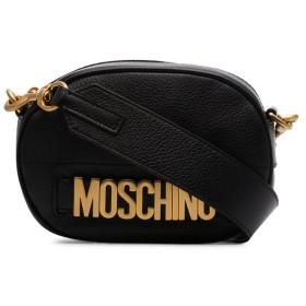 Moschino レザー ショルダーバッグ - ブラック