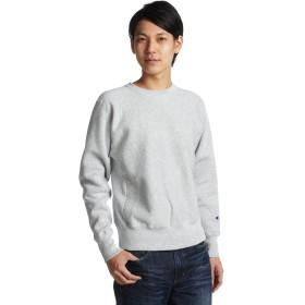 [チャンピオン] リバースウィーブ クルーネックスウェットシャツ C3-W004 メンズ シルバーグレー 日本 S (日本サイズS相当)