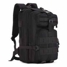 (フェニックス一輝) Phoenix Ikki 40L 大きい開口部 多彩なポケット 全6色 迷彩 防水耐震 男女兼用 多機能 リュックサック アウトドア バックパック ミリタリー デイパック ブラック