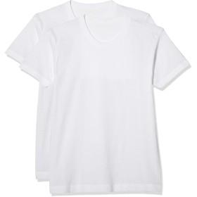 [ボディワイルド] Tシャツ ベーシック Dry クルーネック 2枚 BW51132 メンズ ホワイト 日本 L (日本サイズL相当)