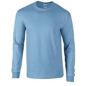 (ギルダン) Gildan メンズ 無地 クルーネック ウルトラコットン 長袖Tシャツ ロングスリーブカットソー トップス 男性用 (2XL) (カロリナブルー)