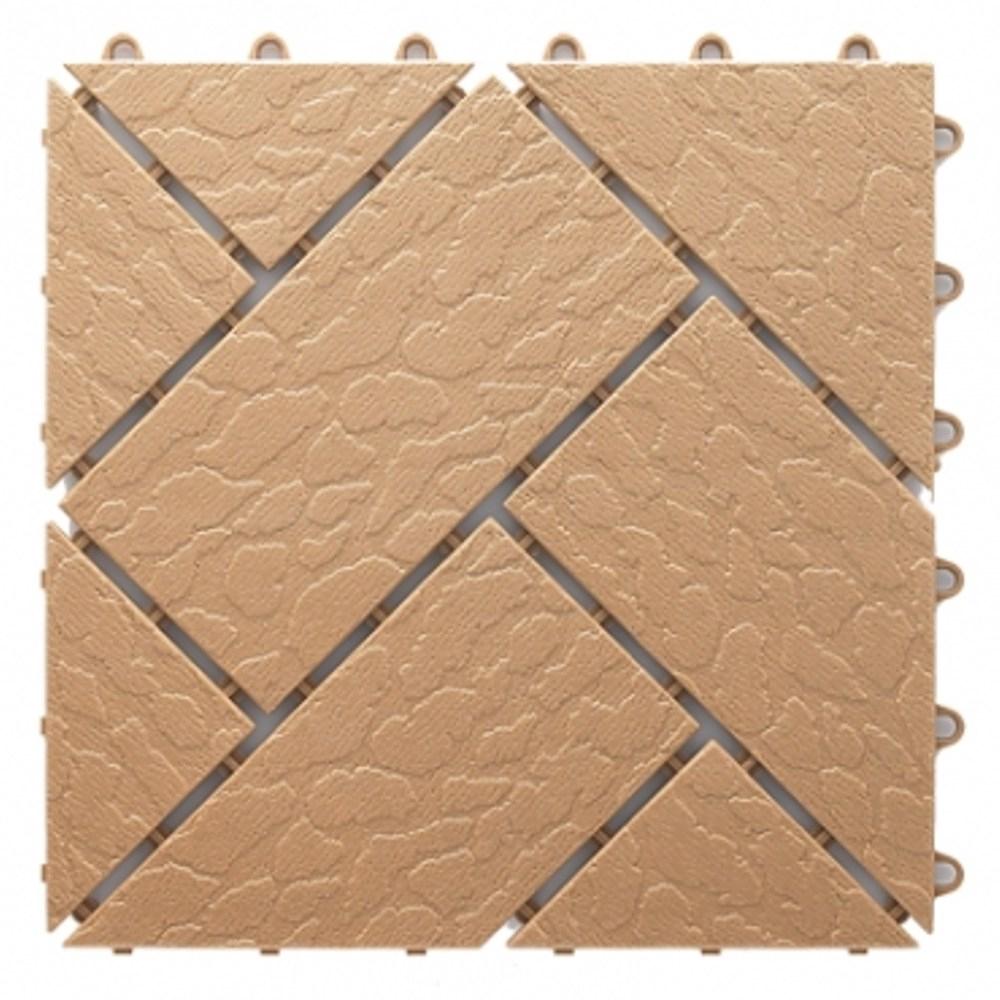 菱紋組合地板4片 -柑