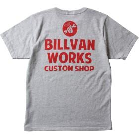 (ビルバン)BILLVAN Tシャツ アメリカンワークス スタンダード バックプリントTシャツ 300305 M M.GREY