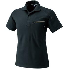 (トップシャレトン) TS DESIGN ワークニットロングポロシャツ・半袖ポロシャツ (51055-to) ブラック LL