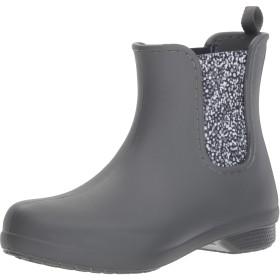 [クロックス] レインブーツ フリーセイル チェルシー ブーツ ウィメン Slate Grey/Dots 24 cm
