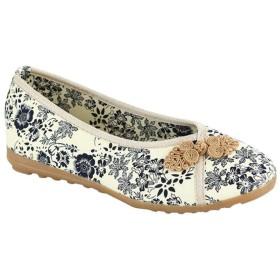 [Shenguang] 老北京チャイナ靴 レディース チャイナシューズ 花柄 シューズ 民族風 ブーツ フラットシューズ (39(24.5cm))