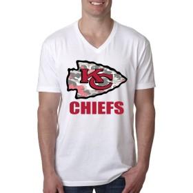 カンザスシティ チーフス フットボール チーム KCロゴ Tシャツ メンズ 半袖 カットソー V領 吸汗速乾 ファッションプリント 快適な 無地 V領 ストリート カジュアル